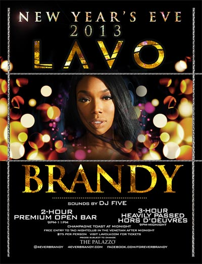 Brandy at LAVO New Years Eve 2013