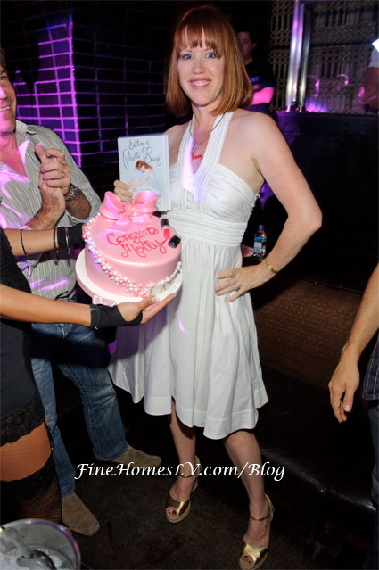Molly Ringwald with Cake
