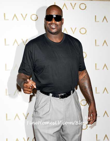 Shaq On The Red Carpet At LAVO