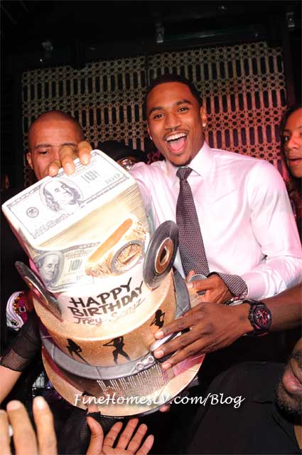 Trey Songz and Money Birthday Cake