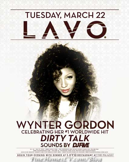 Wynter Gordon at LAVO Las Vegas