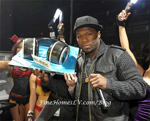 50 Cent and Sleek Headphones
