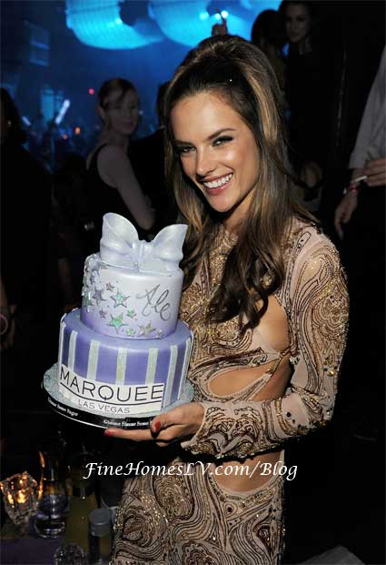 Alessandra Ambrosio With Cake at Marquee