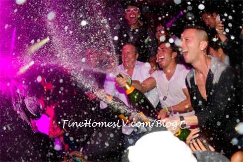 Apolo Ohno Champagne Shower