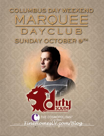 Dirty South At Marquee Dayclub Oct 9