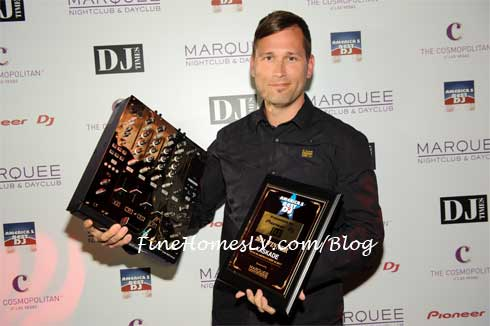 DJ Kaskade with DJ Times Awards