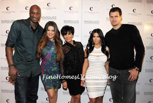 Lamar Odom, Khloe Kardashian, Kris Kardashian, Kim Kardashian and Kris Humphries