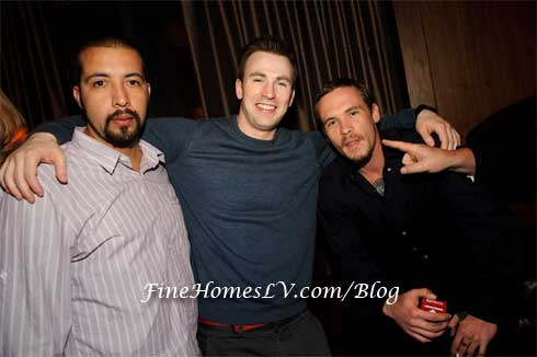 Guillermo Lozano, Chris Evans and Blake Heron