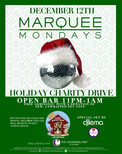 Marquee Charity Toy Drive