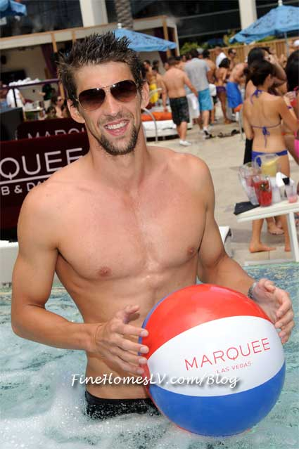 Michael Phelps at Marquee Dayclub