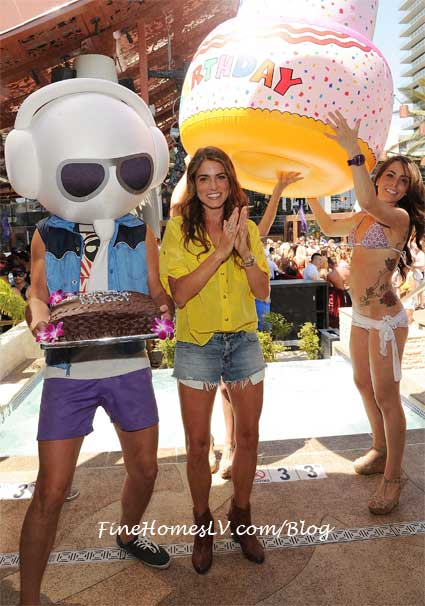 Nikki Reed and Birthday Cake