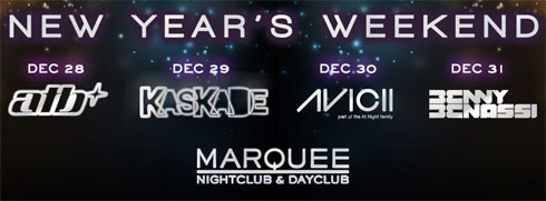 Marquee Nightclub NYE Weekend