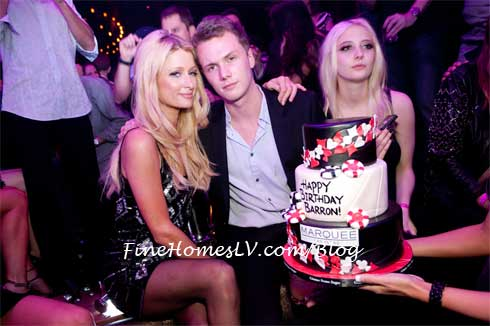 Paris Hilton and Barron Hilton