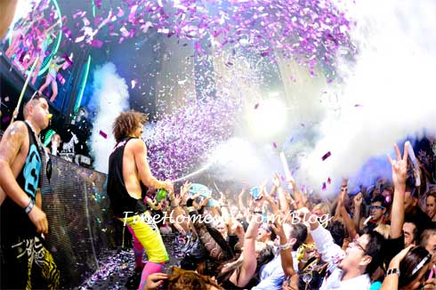 Redfoo Champagne Shower