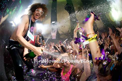 Redfoo Champagne Showers At Marquee