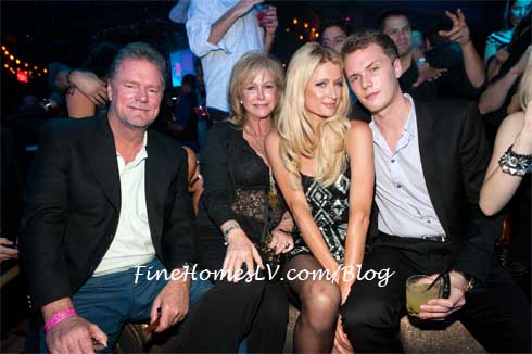 Rick, Kathy, Paris and Barron Hilton