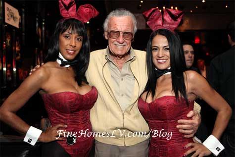 Stan Lee and Playboy Bunnies