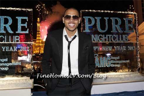 Chris Brown and NYE Fireworks