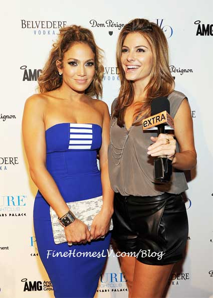 Jennifer Lopez and Maria Menounos