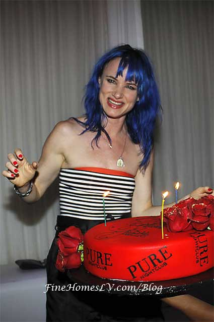 Juliette Lewis with Birthday Cake