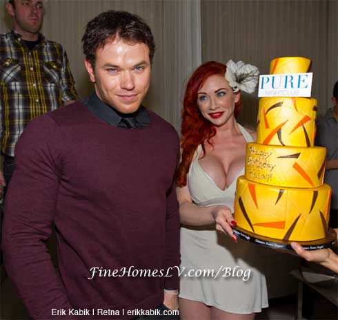 Kellan Lutz With Cake