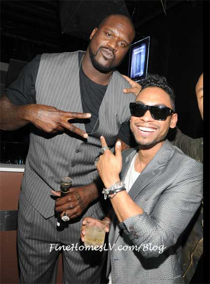 Miguel and Shaq at PURE