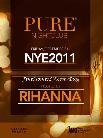 Rihanna at PURE on New Year's Eve 2011