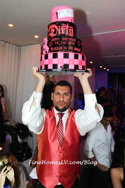 Nik Richie with Birthday Cake