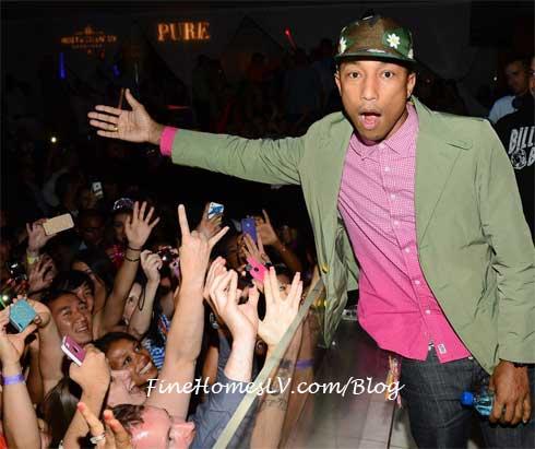 Pharrell at PURE Las Vegas