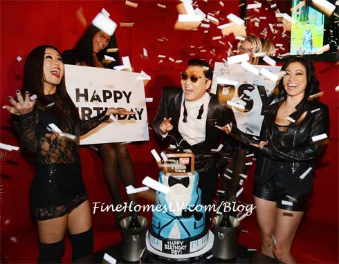 PSY With Birthday Cake at PURE Las Vegas