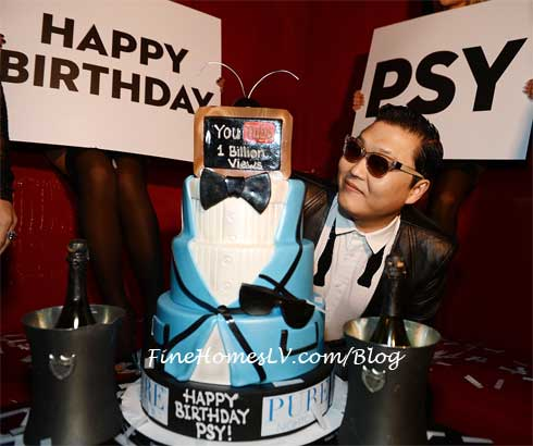 PSY With Birthday Cake at PURE Nightclub