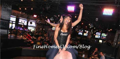 Fantasy Ladies Riding a Mechanical Bull