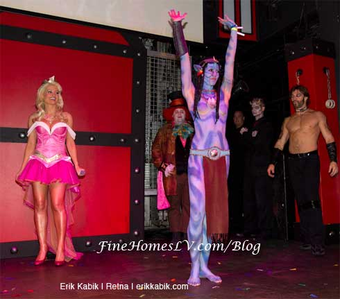 Holly Madison and Avatar Costume
