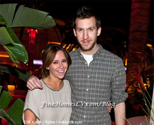 Jennifer Love Hewitt and DJ Calvin Harris