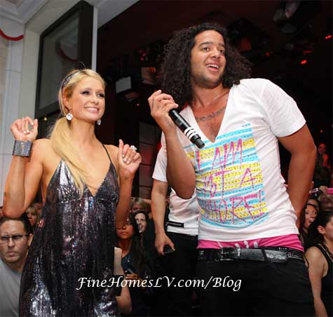Paris Hilton and LMFAO at Surrender Nightclub