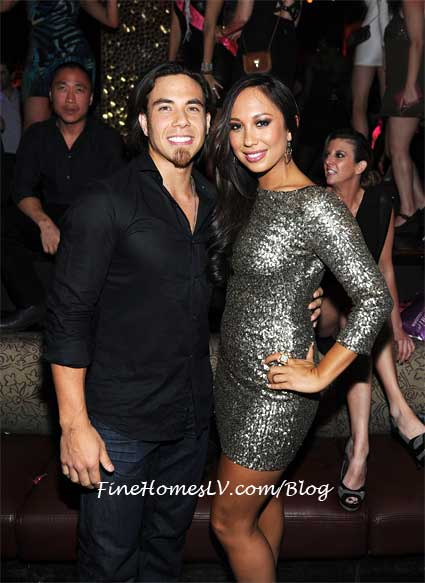 Apolo Ohno and Cheryl Burke