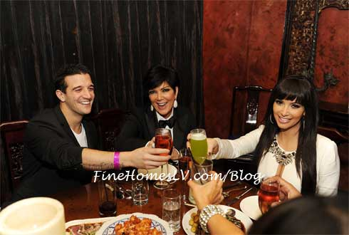 Mark Ballas, Kris Jenner and Kim Kardashian
