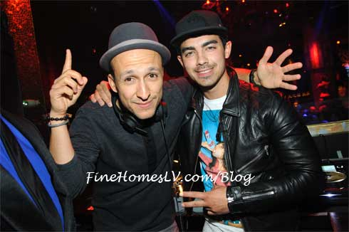 DJ Vice and Joe Jonas at TAO