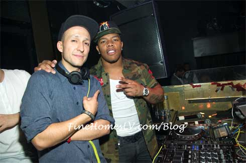 DJ Vice and Ray Rice at TAO