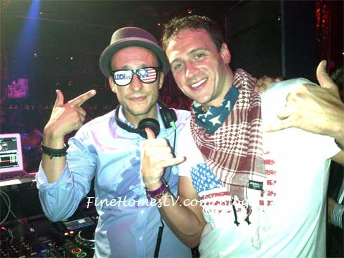 DJ Vice and Ryan Lochte