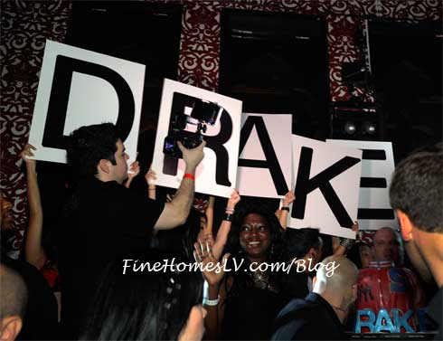DRAKE Sign at TAO Nightclub
