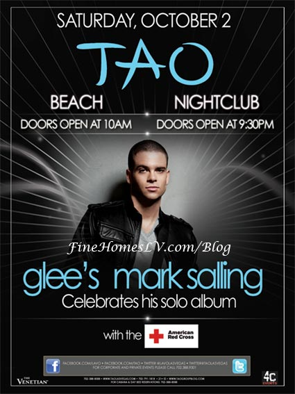 Glee's Mark Salling at TAO