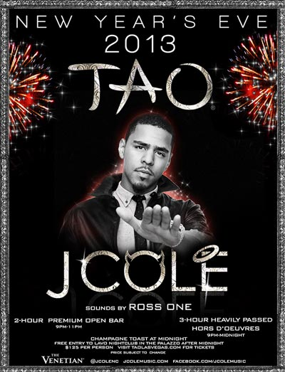 J Cole at TAO New Years Eve 2013