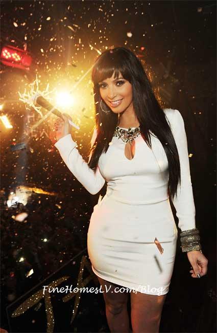Kim Kardashian at TAO for NYE