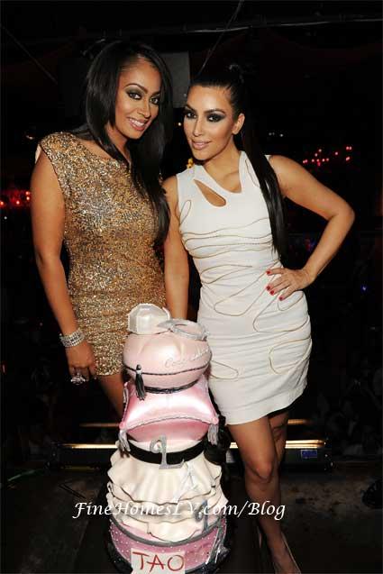 La La Vazquez and Kim Kardashian