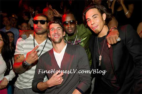 Shawne Merriman, Michael Phelps, Diddy and Apolo Ohno