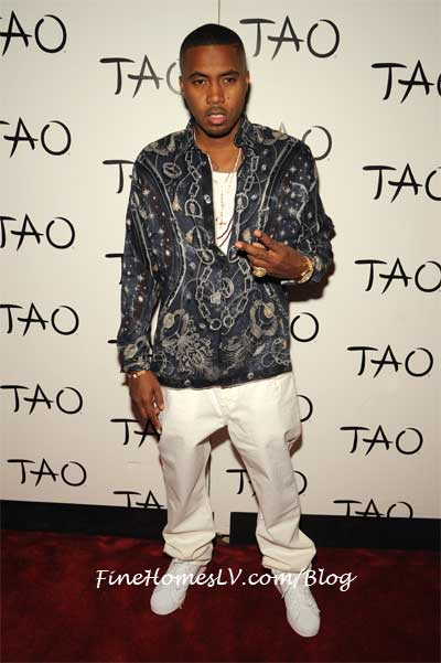 Nas On The Red Carpet at TAO