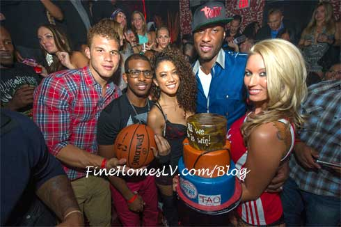 Chris Paul, Blake Griffin, Grant Hill and Lamar Odom at TAO