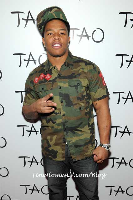 Ray Rice at TAO Nightclub