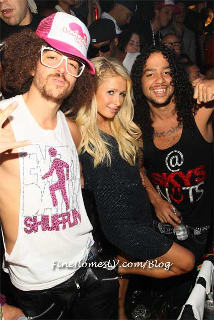 Redfoo, Paris Hilton and Skyblu